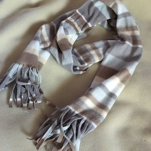 Tan winter fall fringe scarf